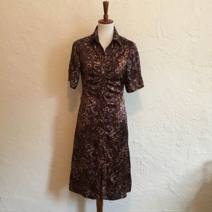 Dresses & Skirts - Silk shirtdress. Size small.